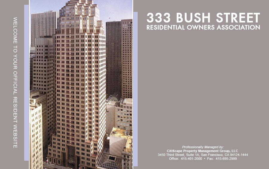 333 Bush Street Residential Owners Association
